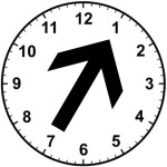 Mowing Direction Clock Face