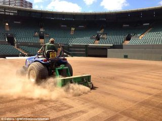 Grassclippings - Wimbledon Tennis Court Renovation