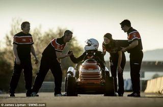 Grass Clippings - Honda Racing Lawn Mower