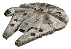 Grass Clippings - Millennium Falcon