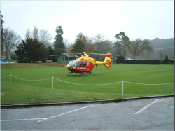 Air Ambulance Crew drop in for a game of Croquet