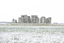 Grass Clippings - Stonehenge in Winter